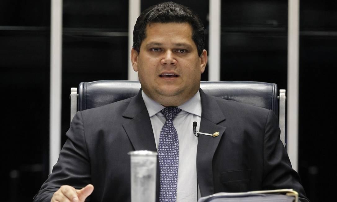 O presidente do Senado, Davi Alcolumbre Foto: Beto Barata / Agência Senado