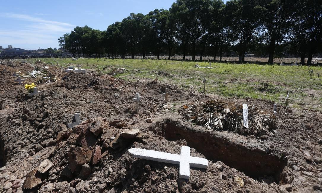 """A chamada´""""área de segurança"""", com acesso restrito, no Cemitério de Caju, tem 50m² e pode ser triplicada Foto: Fabiano Rocha / Fabiano Rocha"""