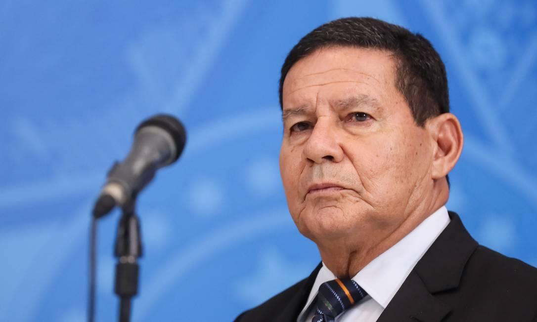 O vice-presidente Hamilton Mourão Foto: Isac Nóbrega/Presidência