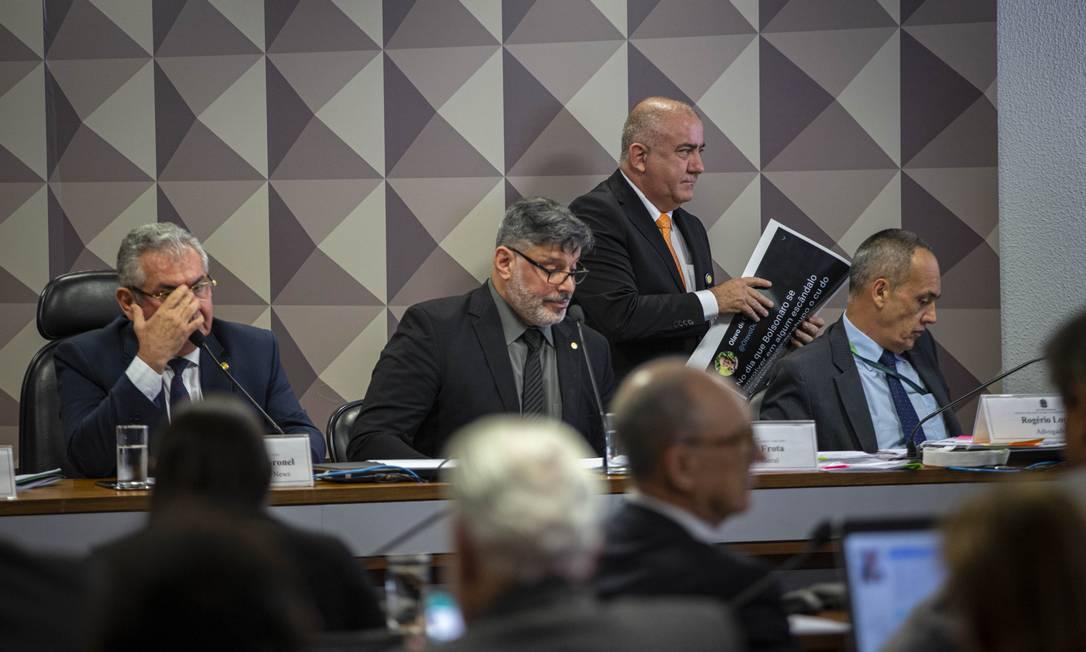 Sessão da CPI da Fake News Foto: Daniel Marenco / Agência O Globo