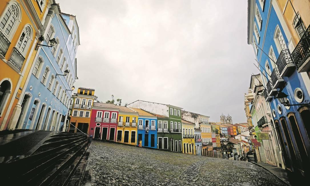 Salvador. No Pelourinho só a beleza do casario Foto: Felipe Iruatã / Agência O Globo