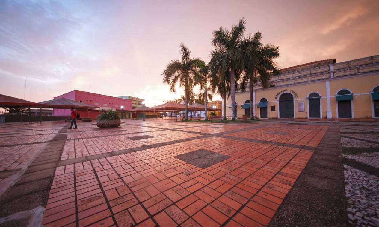 Rio Branco. O novo Mercado Velho, sem turistas, após o governo do Acre decretar estado de calamidade pública Foto: Alexandre Lima / Agência O Globo