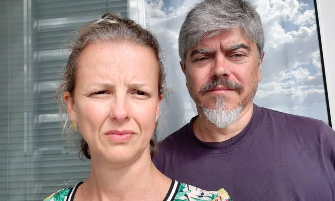 Simone Melo e Eduardo Melo temem ficar retidos na Namíbia por conta do lockdown Foto: Arquivo pessoal
