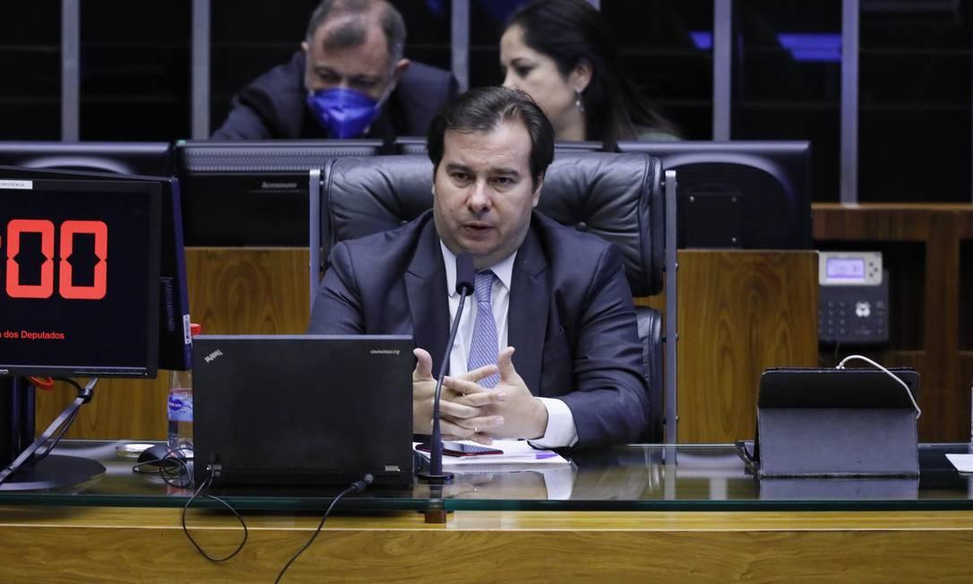 O presidente da Câmara, Rodrigo Maia (DEM-RJ), ressaltou a preocupação em não criar despesas de longo prazo Foto: Divulgação / Câmara dos Deputados