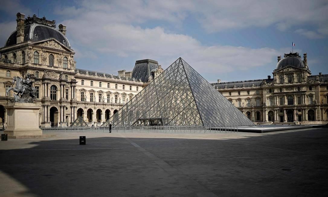 ... nem no Museu do Louvre Foto: THOMAS COEX / AFP