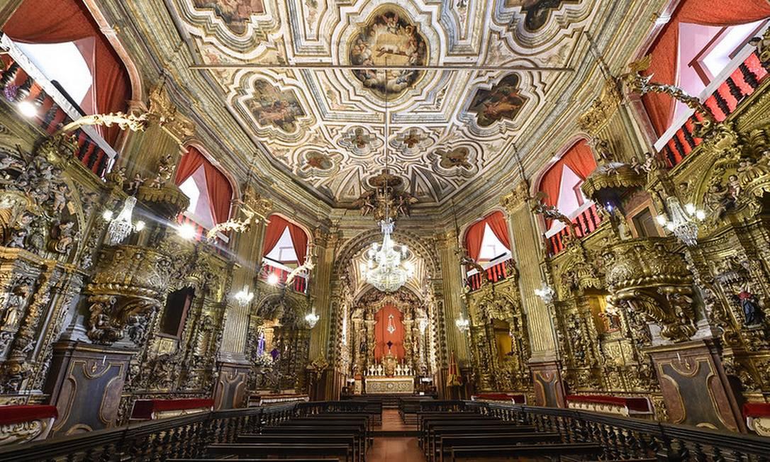 Interior da Basílica de Nossa Senhora do Pilar, em Ouro Preto, Minas Gerais Foto: Pedro Vilela / Ministério do Turismo / Divulgação