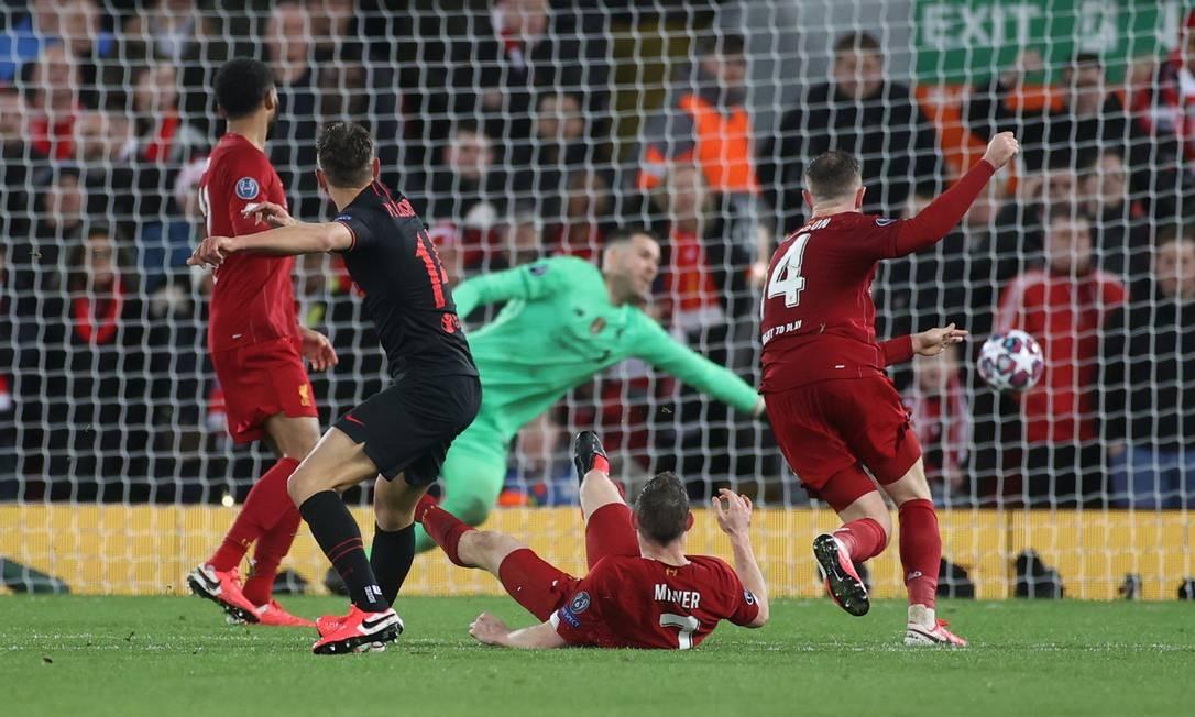 Último jogo do Liverpool foi derrota para o Atlético de Madri na Liga dos Campeões Foto: CARL RECINE / Action Images via Reuters