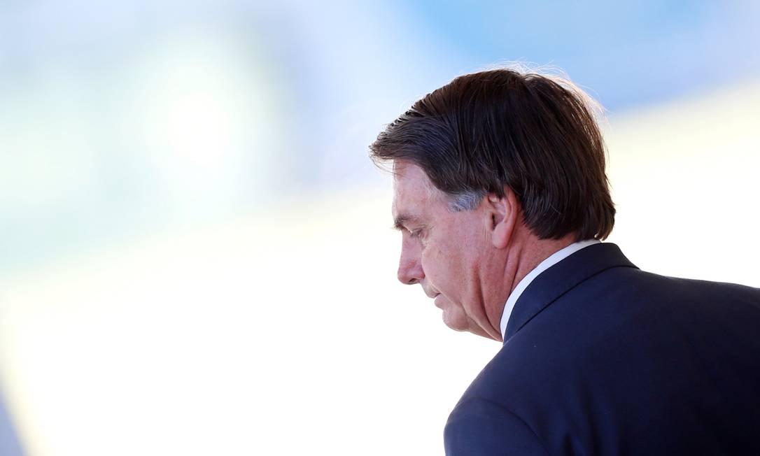 Bolsonaro no Palácio da Alvorada Foto: Adriano Machado / 03/04/2020 / REUTERS