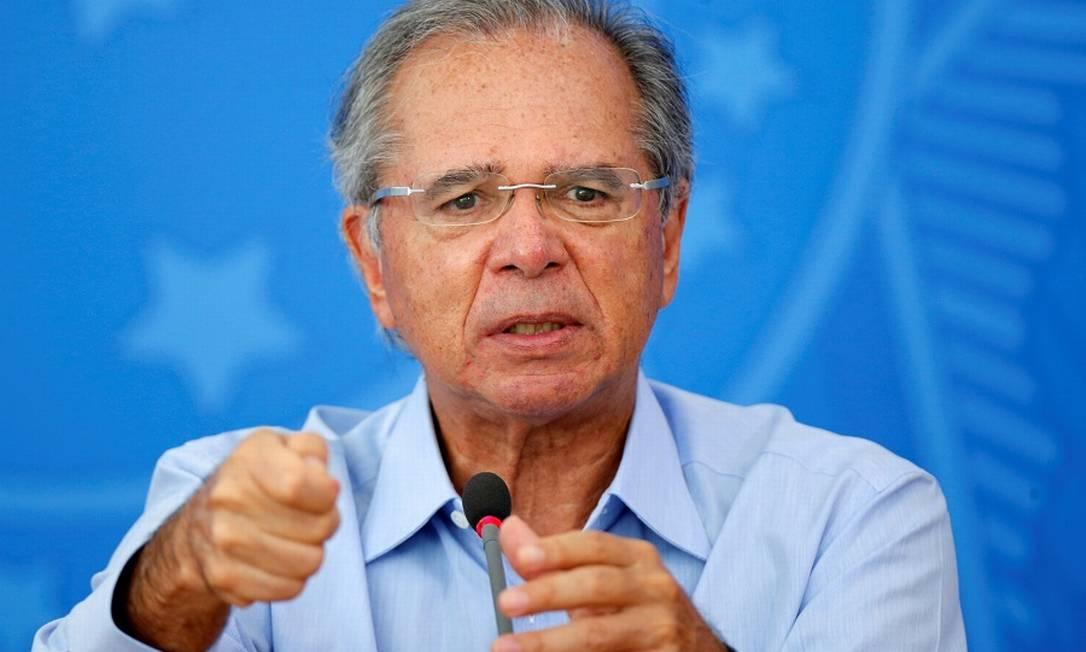 O ministro da Economia, Paulo Guedes, admite recessão em 2020 se crise se prolongar Foto: ADRIANO MACHADO / REUTERS
