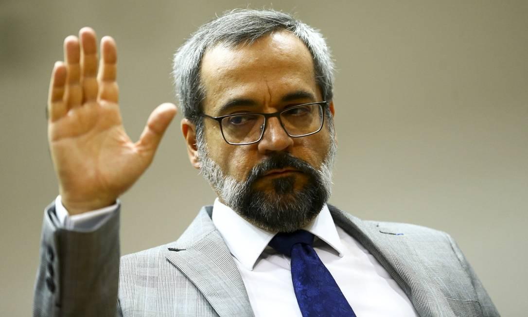 O ministro da Educação, Abraham Weintraub Foto: Marcelo Camargo / Agência Brasil/ 19-02-2020