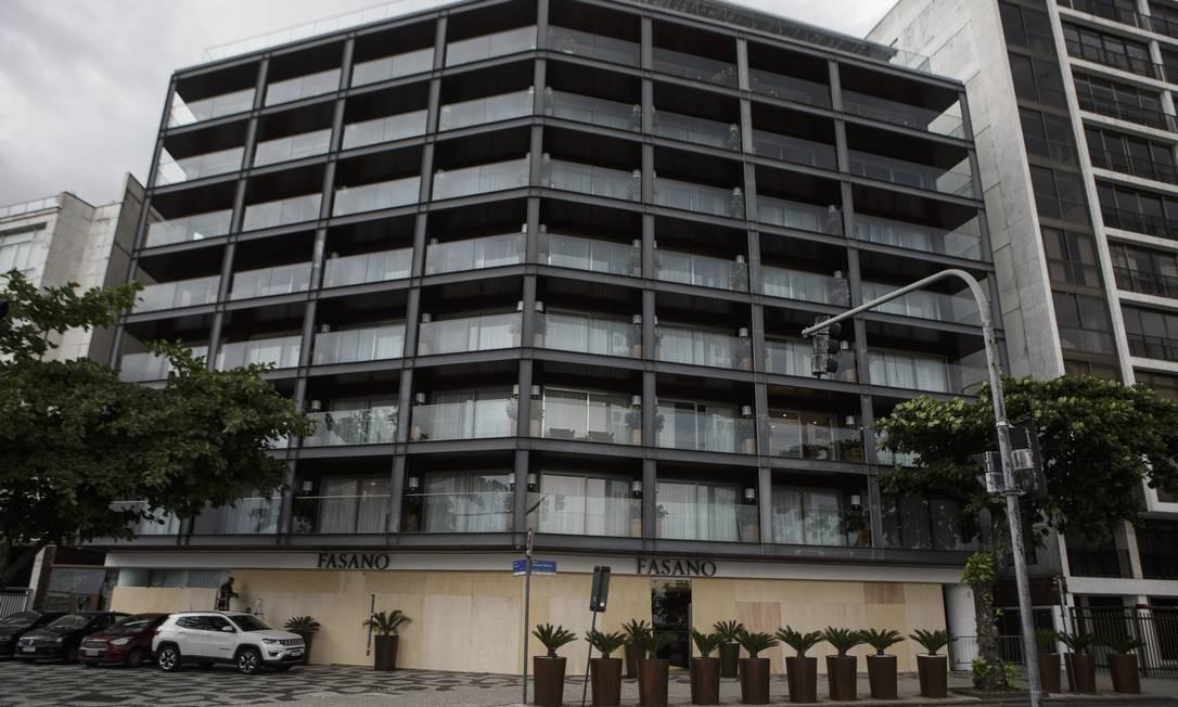 O hotel Fasano, em Ipanema, é um dos que está fechado Foto: Alexandre Cassiano / Agência O Globo / 03-04-2020