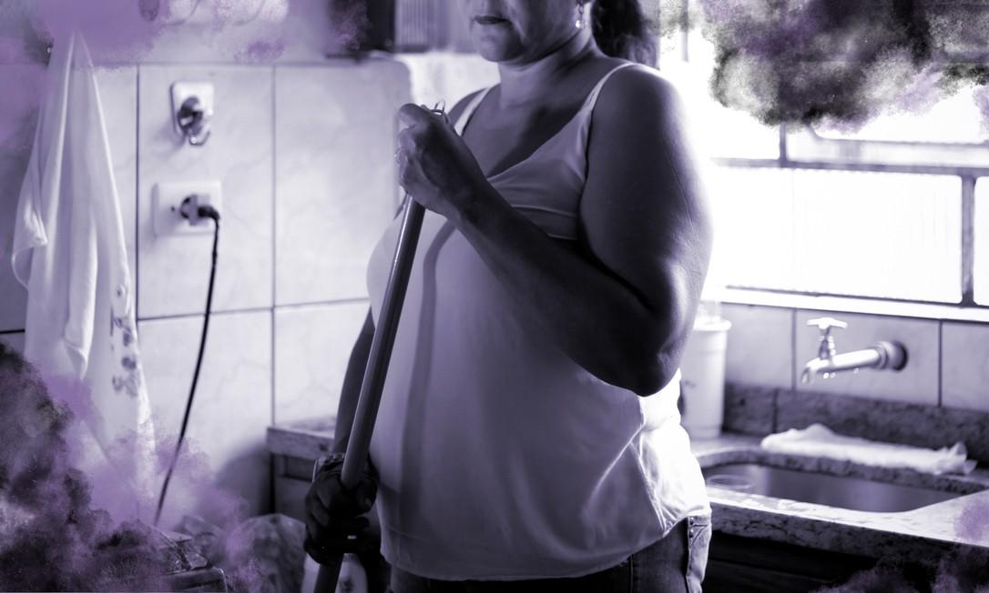 Coletivo Pela Vida das Nossas Mães arrecada doações para trabalhadoras domésticas que enfrentam dificuldades financeiras durante o isolamento domiciliar devido ao coronavírus Foto: Marcos Alves /Agência O Globo