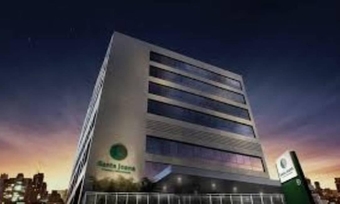 O Hospital Santa Joana, onde recém nascido está internado na UTI Foto: Divulgação
