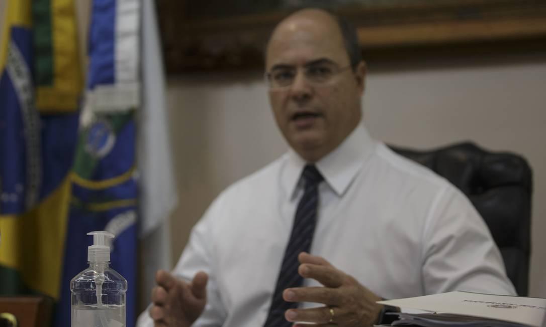 O governador do Rio, Wilson Witzel Foto: Alexandre Cassiano / Agência O Globo / 18-03-2020