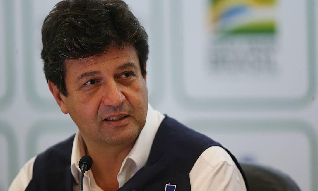 O ministro da Saúde, Luiz Henrique Mandetta 06/04/2020 Foto: Jorge William / Agência O Globo