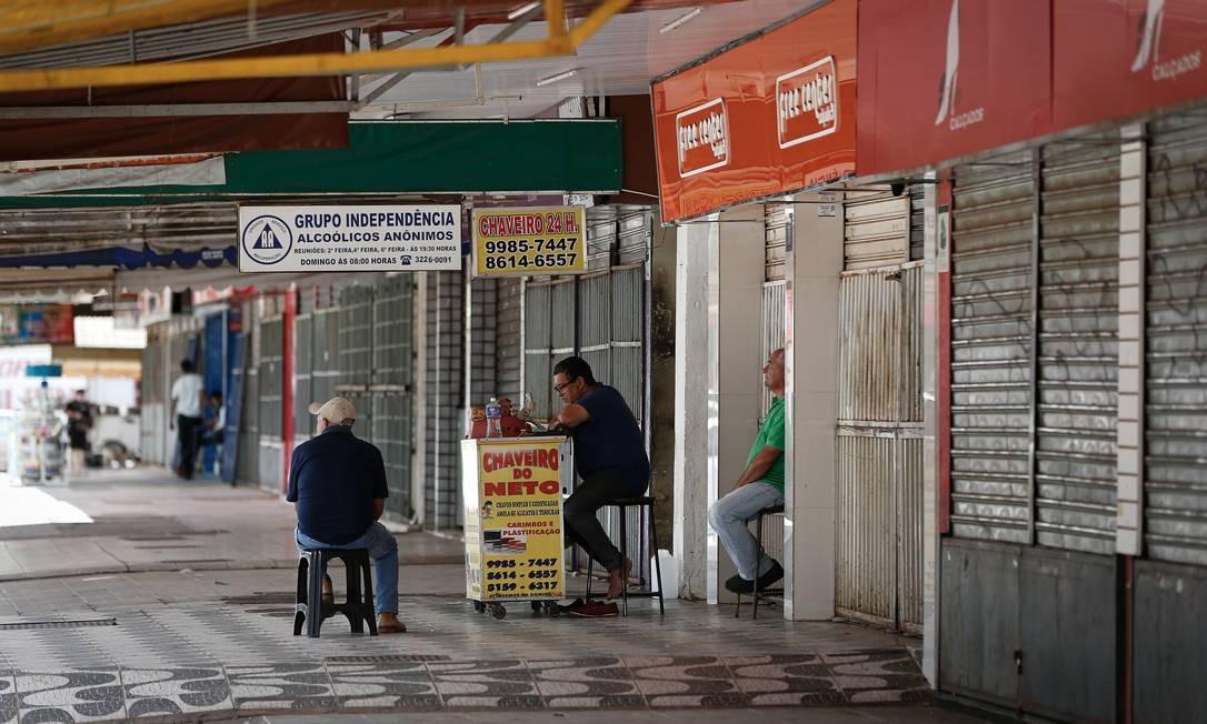 Feira central em Ceilândia, lugar onde o presidente Jair Bolsonaro visitou e conversou com ambulantes Foto: Pablo Jacob/Agência O Globo/01-01-2020
