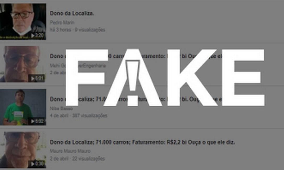 É #FAKE que vídeos mostrem dono da Localiza criticando ações de combate ao coronavírus Foto: Reprodução