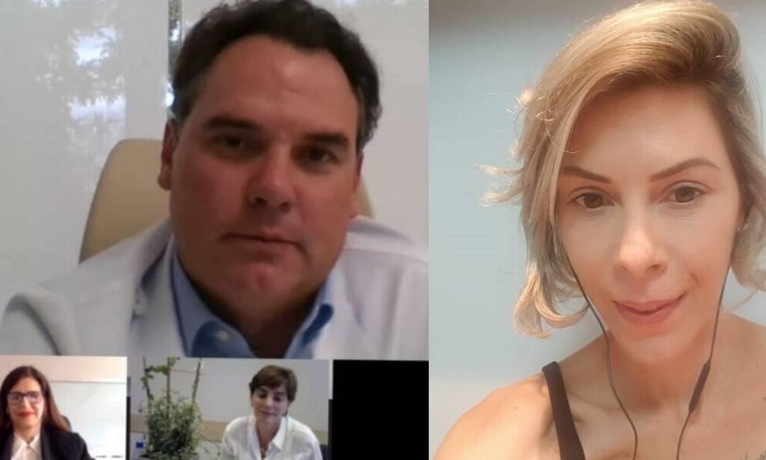 Roseane Alves (à direita) assiste a médicos como Bruno Ferrari Foto: Arquivo pessoal
