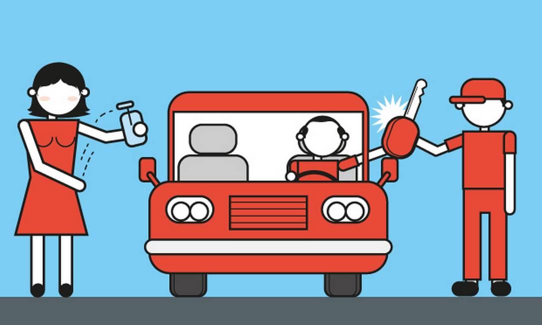 cuidados com o transporte Foto: Arte O Globo