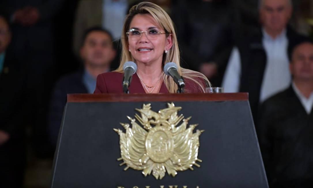 Presidente interina da Bolívia Jeanine Áñez Foto: - / AFP