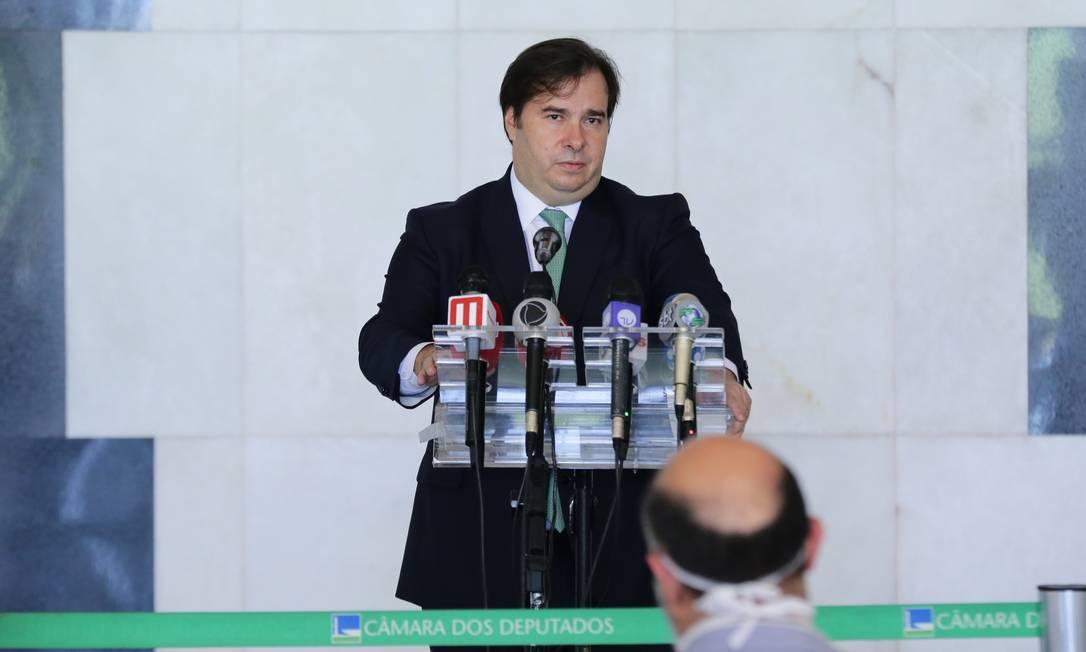 O presidente da Câmara, Rodrigo Maia Foto: Michel Jesus / Câmara dos Deputados