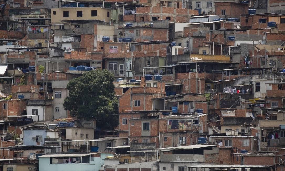 Morro da Mineira, no Catumbi, Centro do Rio Foto: Gabriel Monteiro / Agência O Globo
