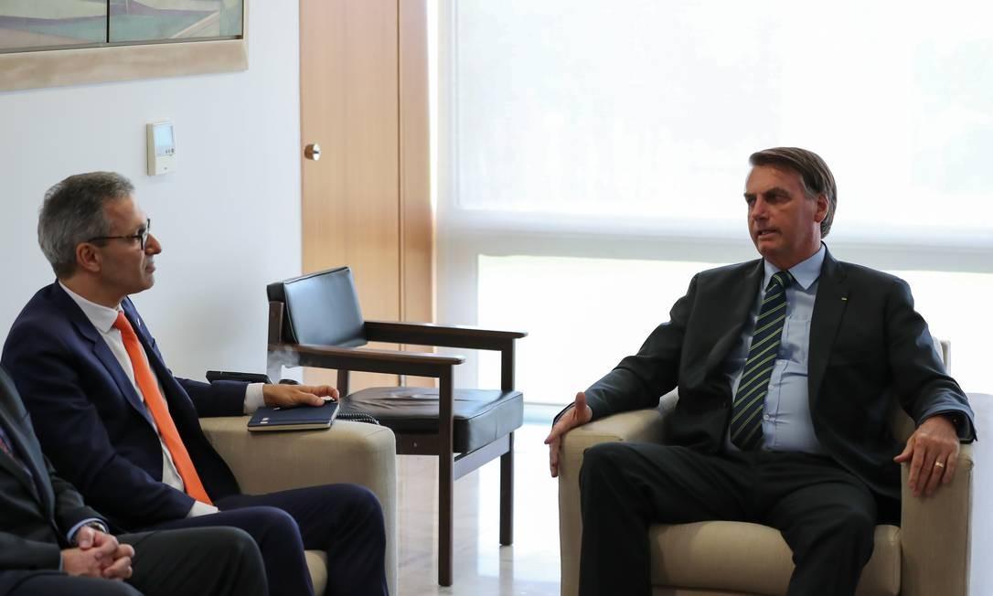 O governador de Minas Gerais, Romeu Zema, e o presidente Jair Bolsonaro Foto: Marcos Corrêa/Presidência/04-03-2020