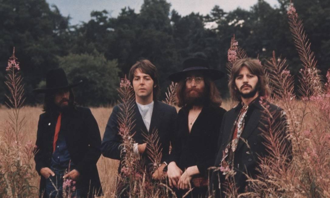 Os Beatles em 1970, ano em que anunciaram o fim da banda Foto: Divulgação