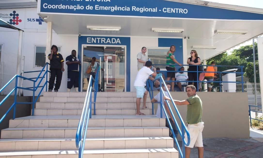 Idosa estava internada no CER do Centro, que fica ao lado do Hospital Municipal Souza Aguiar Foto: Marcia Foletto / Agência O Globo