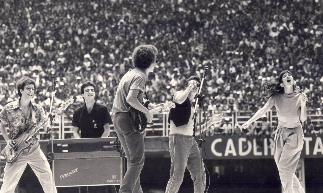 A Blitz, em apresentação no Maracanã, em novembro de 1982 Foto: Sebastião Marinho / Agência O Globo