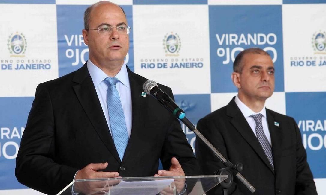 O governador Wilson Witzel e o secretário de Saúde, Edmar Santos Foto: Divulgação
