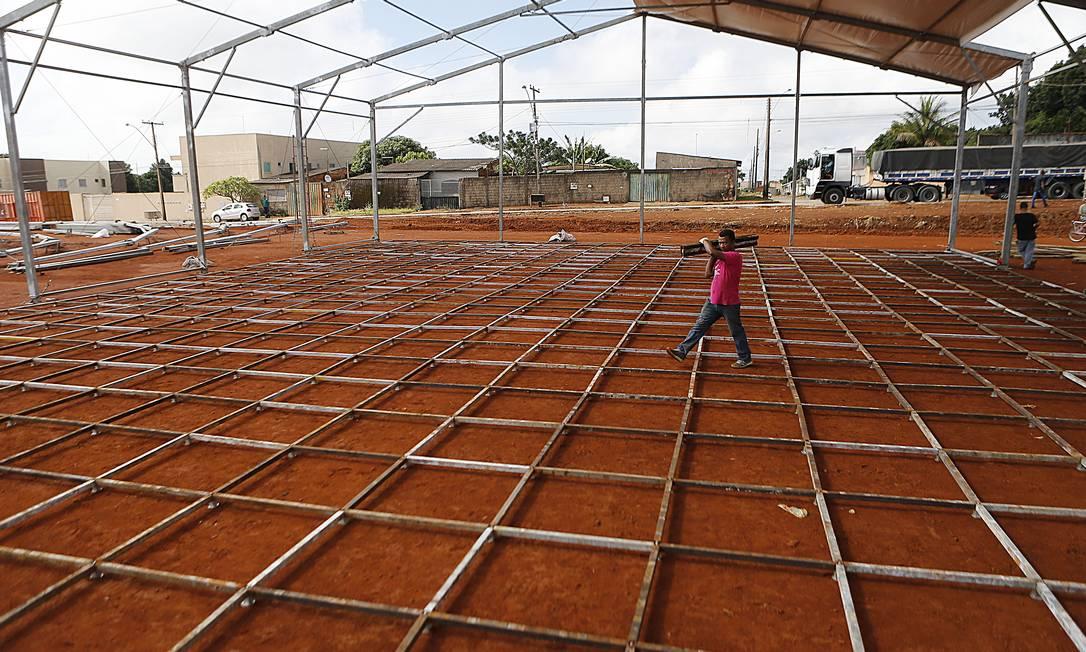 Águas Lindas de Goiás receberá o primeiro hospital de campanha do governo federal Foto: Jorge William / Agência O Globo