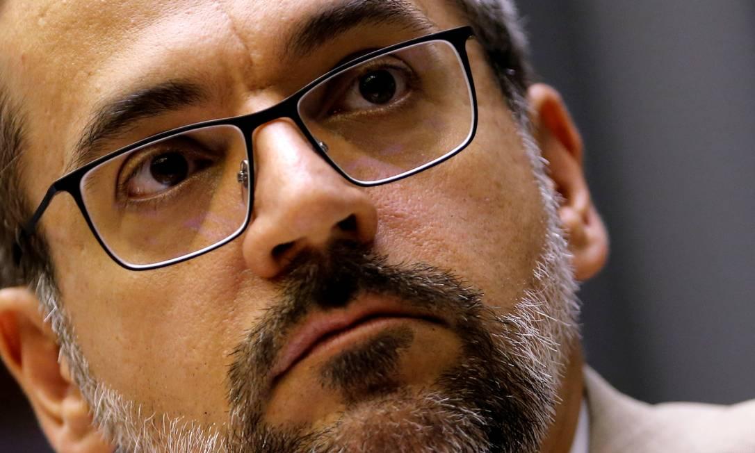 Abraham Weintraub, ministro da Educação Foto: Adriano Machado / REUTERS/15-05-2019
