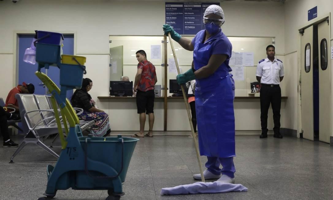Hospital municipal Miguel Couto, na Gávea: clima é de apreensão Foto: Luiza Moraes / Agência O Globo
