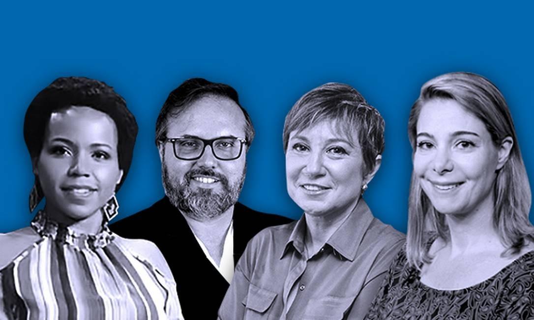 Da esquerda para direita: os especialistas Catarina de Almeida Santos, Daniel Cara, Andrea Ramal e Priscila Cruz. Foto: Editoria de Arte