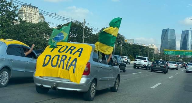 Contrariando orientações da OMS, apoiadores de Bolsonaro protestam ...
