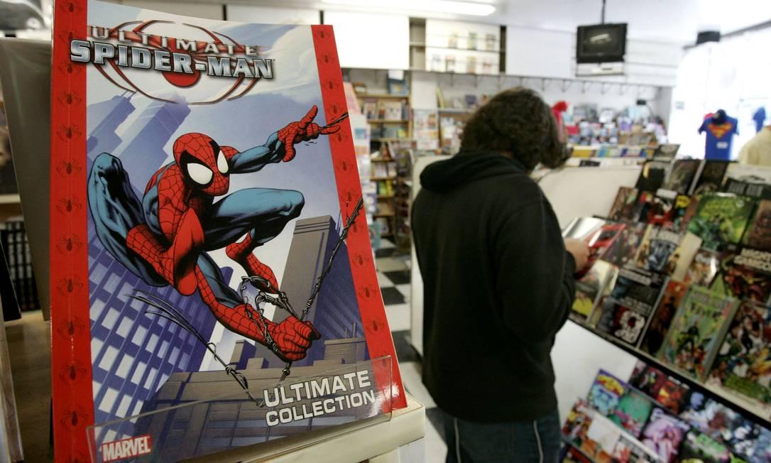 Suspensão na distribuição de novos quadrinhos dificulta ainda mais a vida de lojistas, que se mantém com venda por encomenda e sites de comércio eletrônico Foto: Jonathan Alcorn / Bloomberg