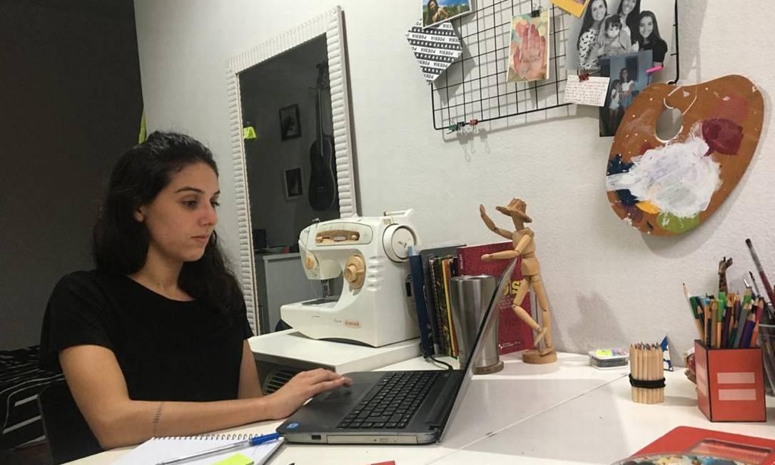 Mariana Godinho decidiu estudar programação em casa Foto: Arquivo Pessoal