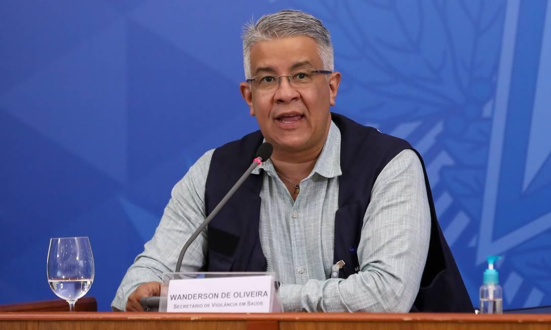 O secretário de Vigilância em Saúde, Wanderson Oliveira 09/04/2020 Foto: JOSE DIAS / Divulgação