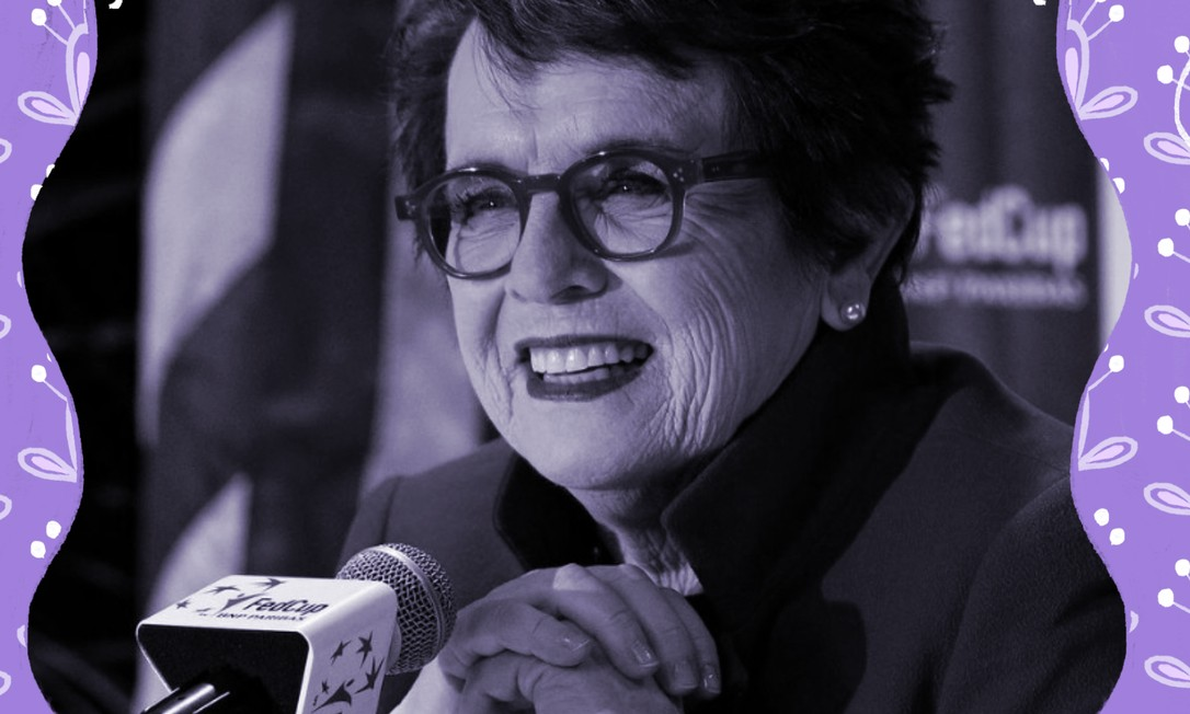 Billie Jean King, lenda do tênis: 'Quero que vocês também pensem no futuro', disse à vencedora de 12 Grand Slams, pedindo que atletas não deixem de lado a luta por igualdade, apesar da pandemia do novo coronavírus Foto: Divulgação/FedCup