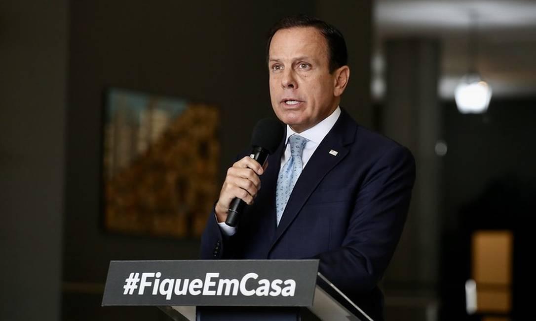 O governador de São Paulo, João Doria 13/04/2020 Foto: Divulgação
