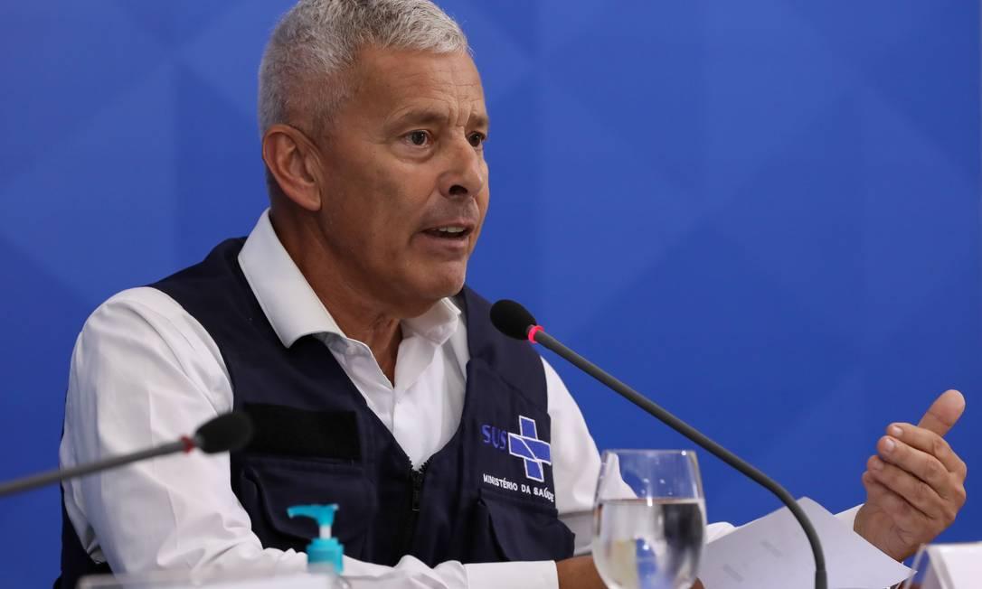 (Brasília - DF, 09/04/2020) Palavras do Secretário-Executivo do Ministério da Saúde, João Gabbardo Foto: JOSE DIAS / PR