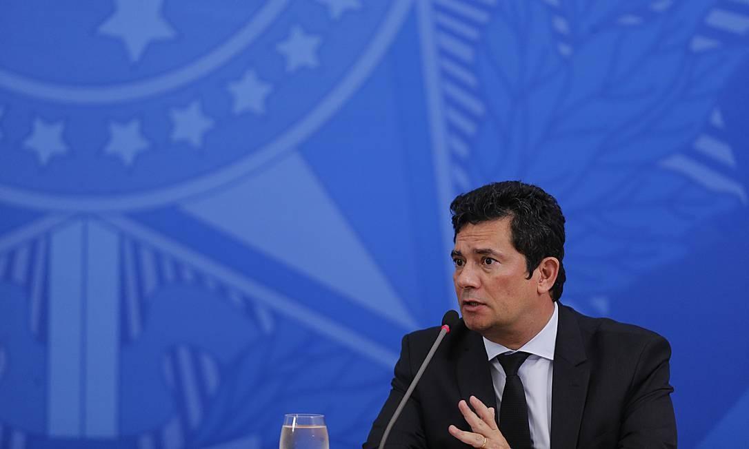O ex-ministro da Justiça Sergio Moro Foto: Jorge William / Agência O Globo