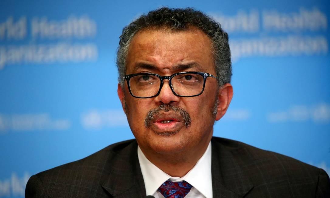 Diretor-geral da Organização Mundial da Saúde (OMS) Tedros Adhanom Ghebreyesus Foto: Denis Balibouse / REUTERS