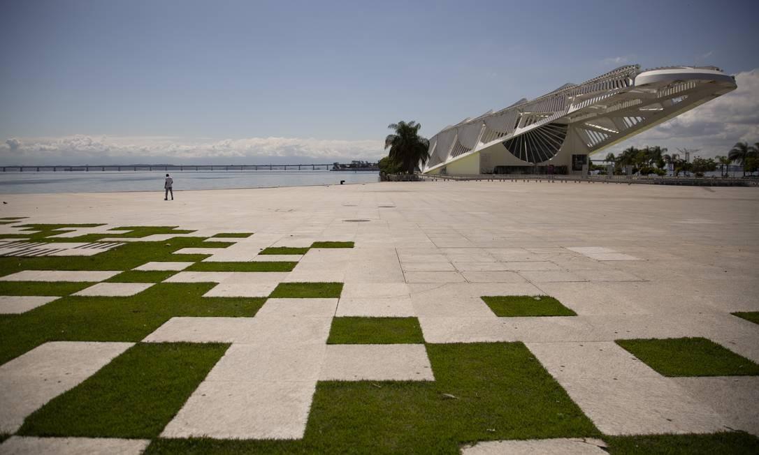 Entorno do Museu do Amanhã, na Praça Mauá Foto: Gabriel Monteiro / Agência O Globo