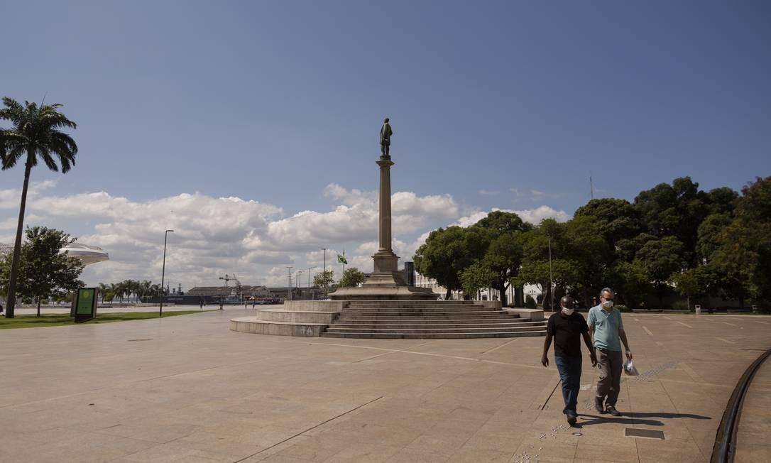 Praça Mauá, na Zona Portuária Foto: Gabriel Monteiro / Agência O Globo
