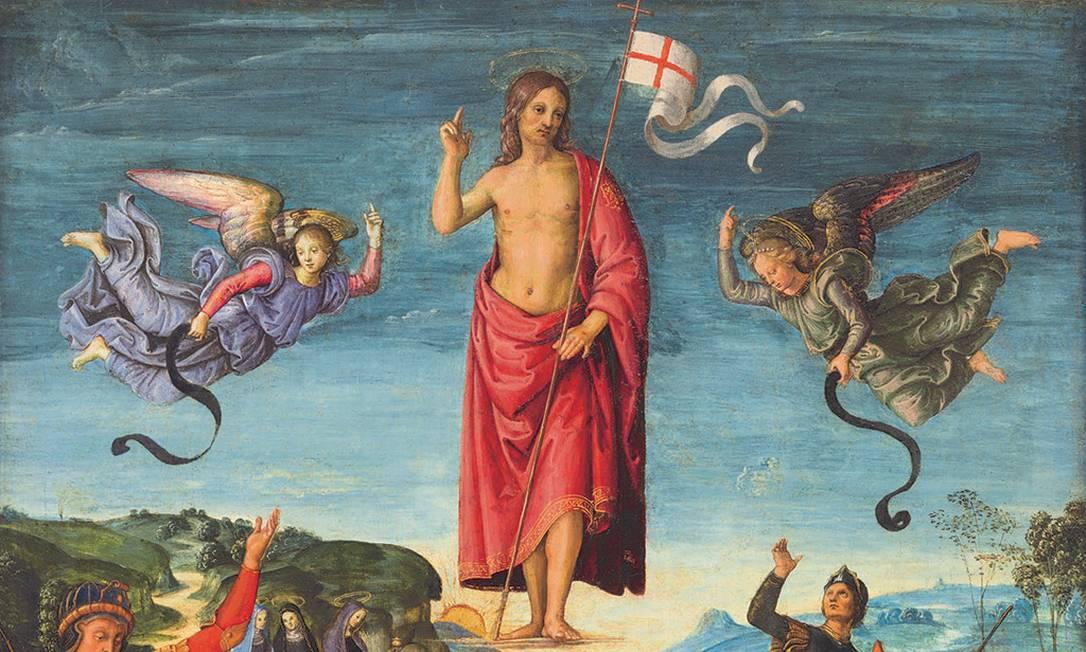 Detalhe de 'Ressurreição de Cristo', tela de Rafael no Masp Foto: Reprodução
