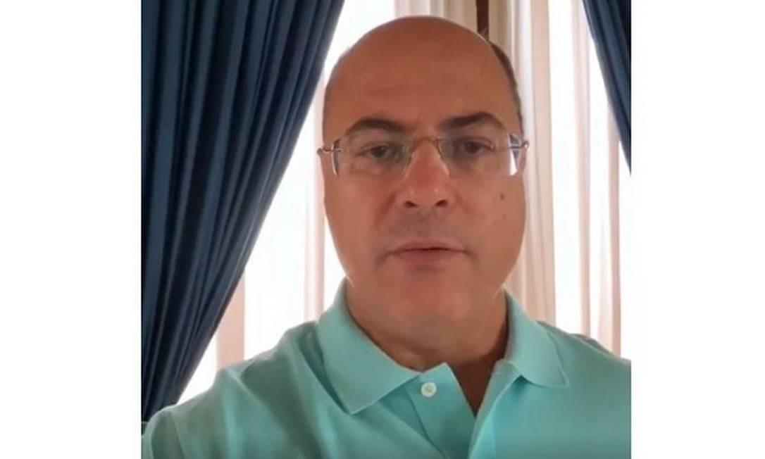 Wilson Witzel anuncia que testou positivo para coronavírus Foto: Reprodução