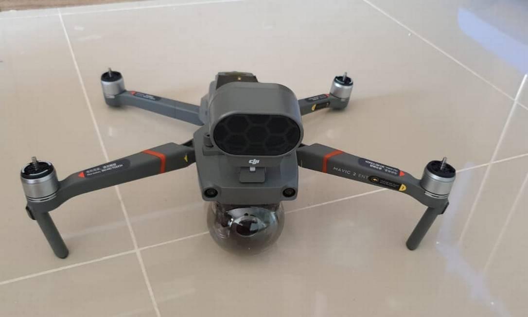 """Definido como ''Drone falante'', o equipamento será direcionado para focos de concentração de populares denunciado pelo ''Disk Aglomeração"""" Foto: Divulgação"""