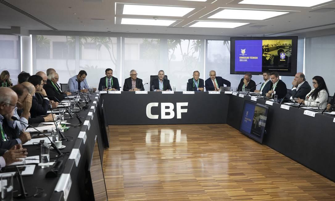 Conselho técnico da Série A na CBF Foto: Lucas Figueiredo/CBF